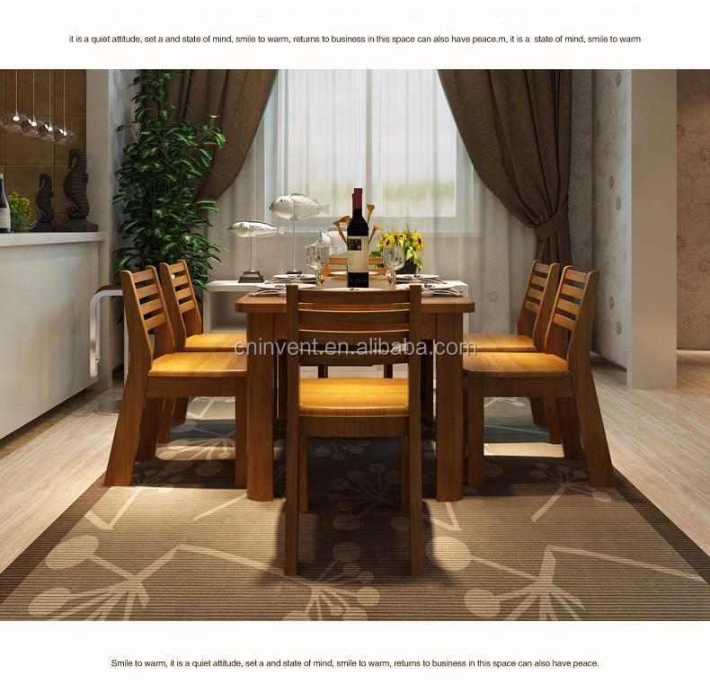 Attrayant Solide Couleur Cerise Table à Manger Avec Des Chaises En Bois