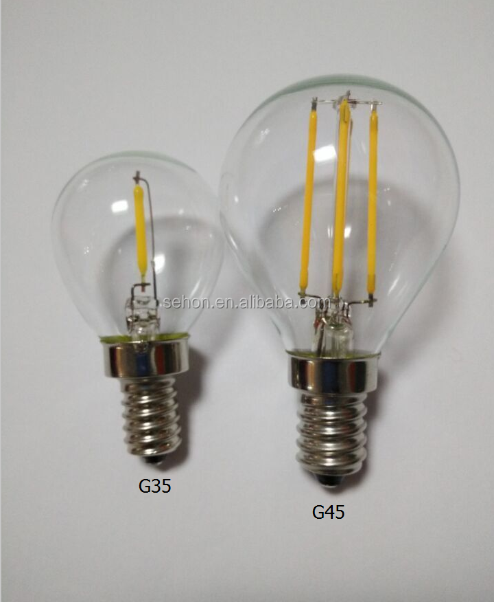 3.5w Filament Vintage Led G16.5 Globe Candelabra Base Light Bulb ...