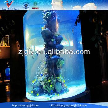 Cylindrical acrylic aquariums fish tanks buy cylindrical for Cylindrical fish tank