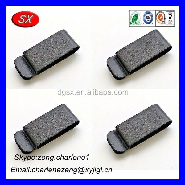 Oem Hardware Manufacturer Black Spring Belt Clip,Flat Metal Spring ...