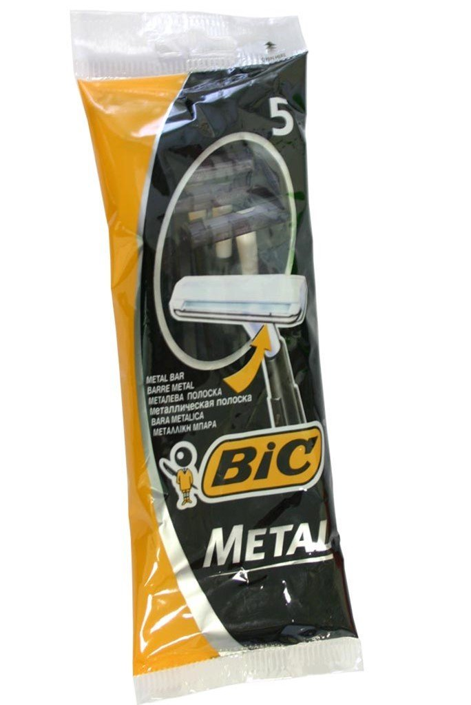Bic Metal Men's Disposable Shaving Razors, 5-Count x 10 Packs