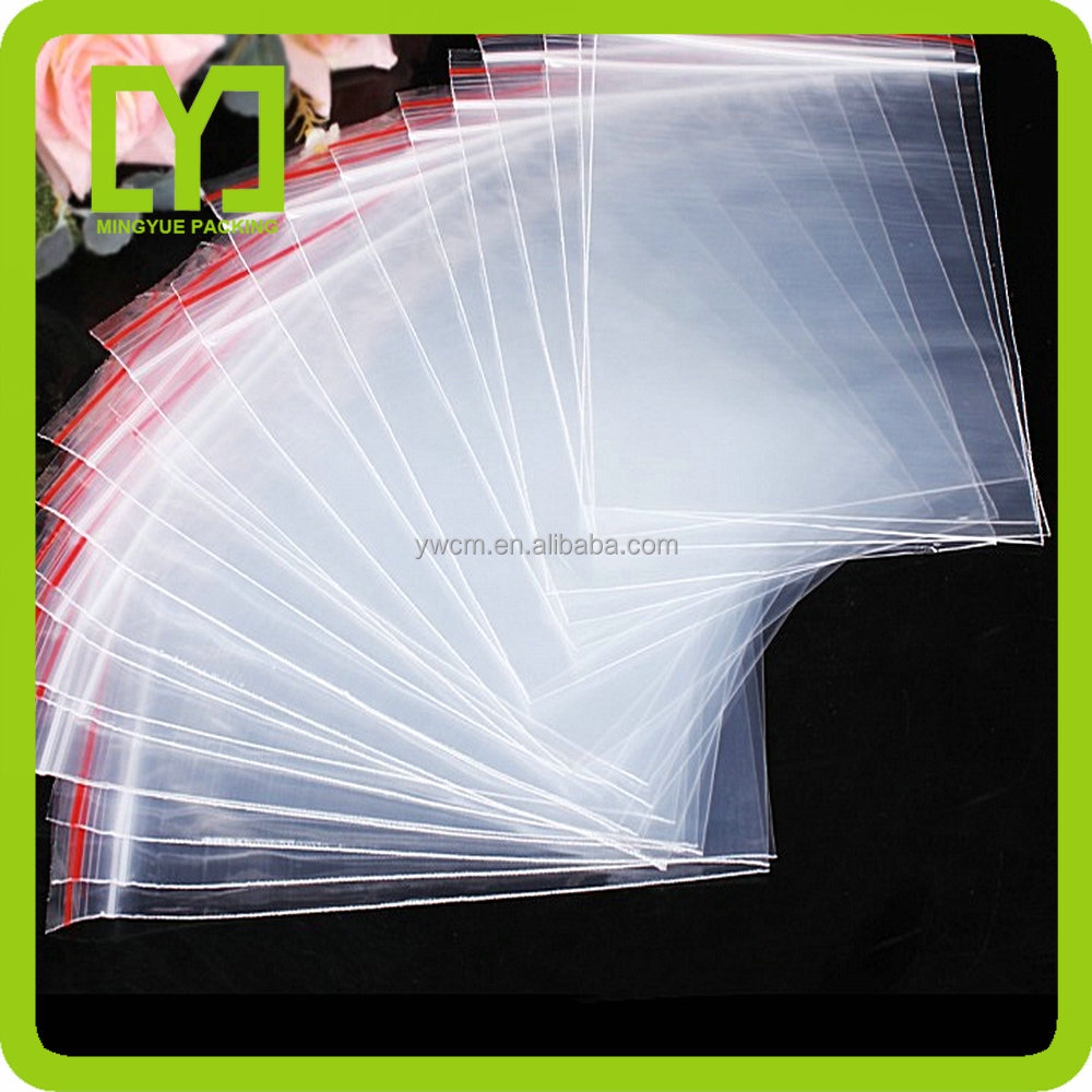 2016 good quality zipper bag custom Cheap clear zip lock bag