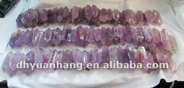 Natural Amethyst Carved Six Facets Wands,Double Terminated Crystal ...