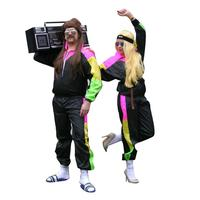 Tracksuit Sports Mens Ladies Fancy Dress Retro Scousers custom Suit 1980s Costume BP2872