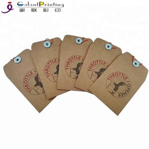 Free Sample Custom Design A4 A5 Brown Kraft Paper Envelope With String and Button Closure