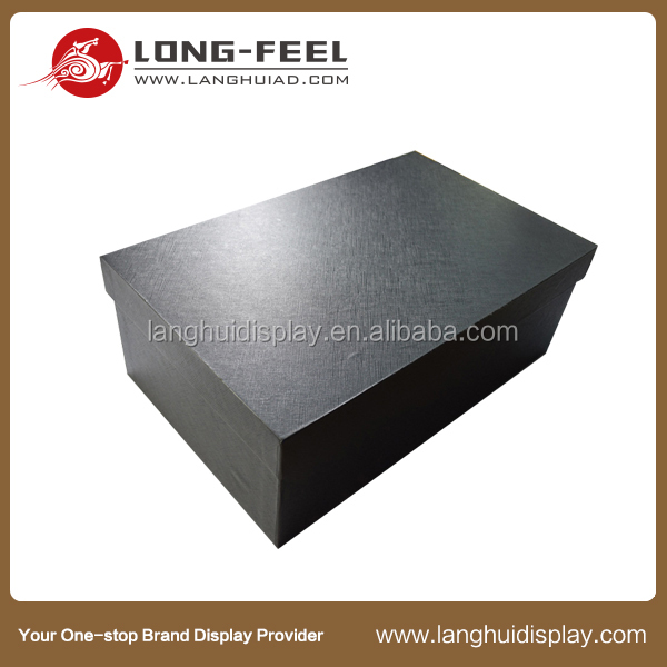China supplier new product base and lid corrugated display drawer flip top folding paper box black packaging boxes cardboard