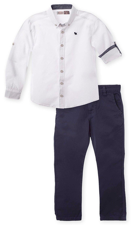 af486174f OFFCORSS Big Boys Slim Fit Pants + Dress up Shirt Set | Conjuntos Para Niños