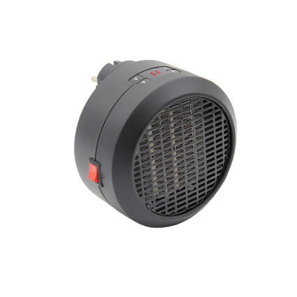 PTC portable personal electric fan heater, wall mounted mini handy fast heater 650W 800W