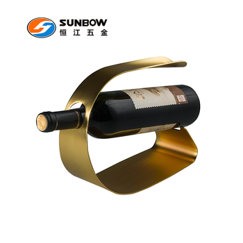 Wholesale metal single bottle wine rack inserts for cabinets