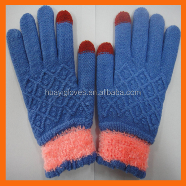 Jacquard 2 Finger Touch Screen Glove for Winter