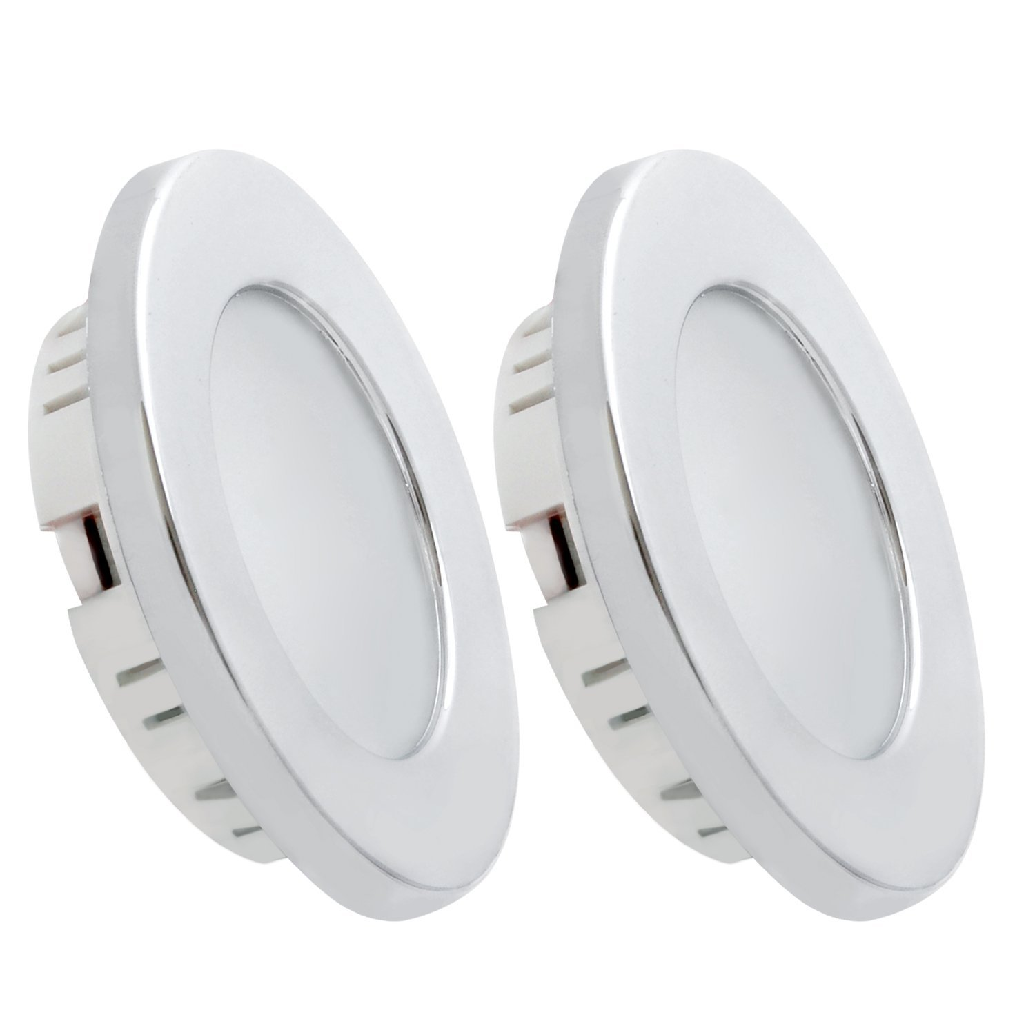tento 12v RV Lights Fixtures Natural White 4500k Pack of 2 12-Volt Reading Light for RV Accessories Marine Boat Cruises Cabin