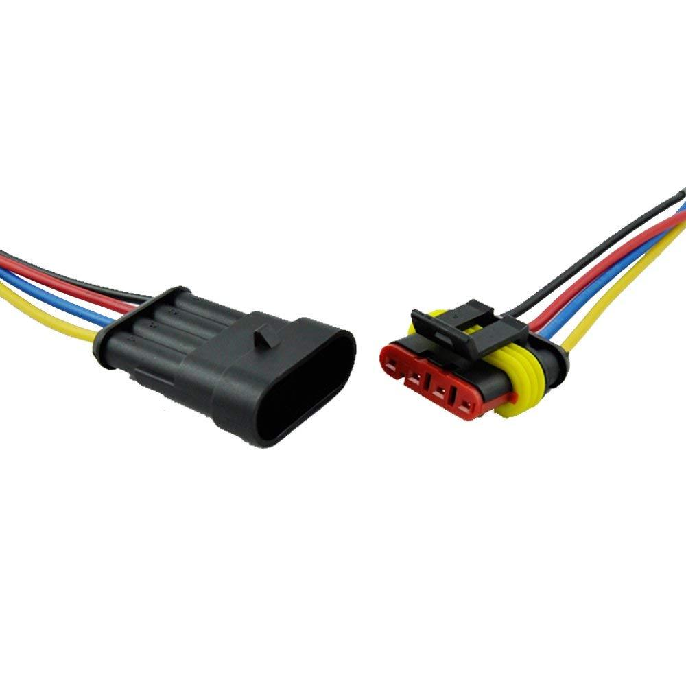 Rouge 6.3mm male spade connecteurs-lucar pousser sur les bornes-pk 10