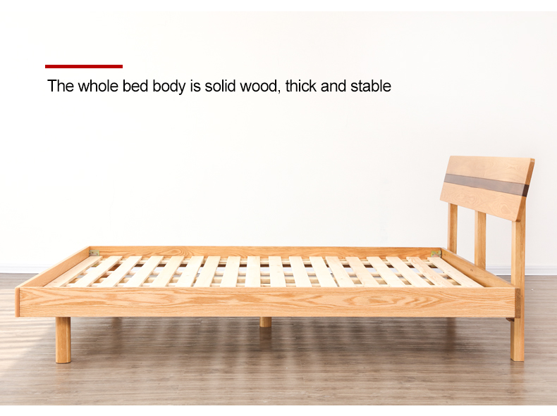 Wholesale Bedroom Furniture Nordic Design Wooden Queen Size Bed For Home