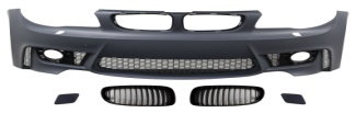 For BMW E82/E87 Front Bumper+ front 2004 1M look Grille body kits bumper grille