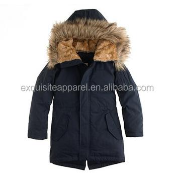 ec378d12b Children Boy s Fishtail Fleece-lined And Faux Fur-trimmed Hood Parka ...
