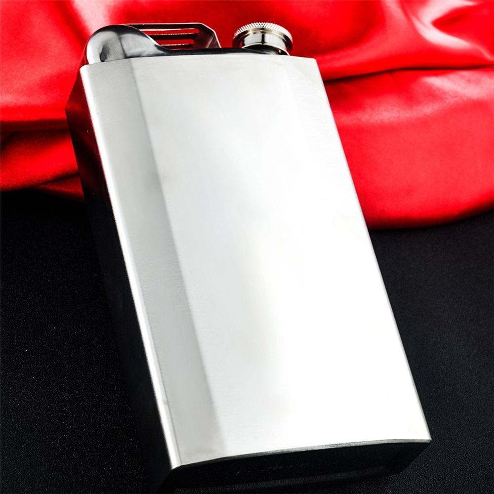 Wholesale Pu Leather Sheath Large Capacity Stainless Steel Hip Flask 35OZ Cup Holder