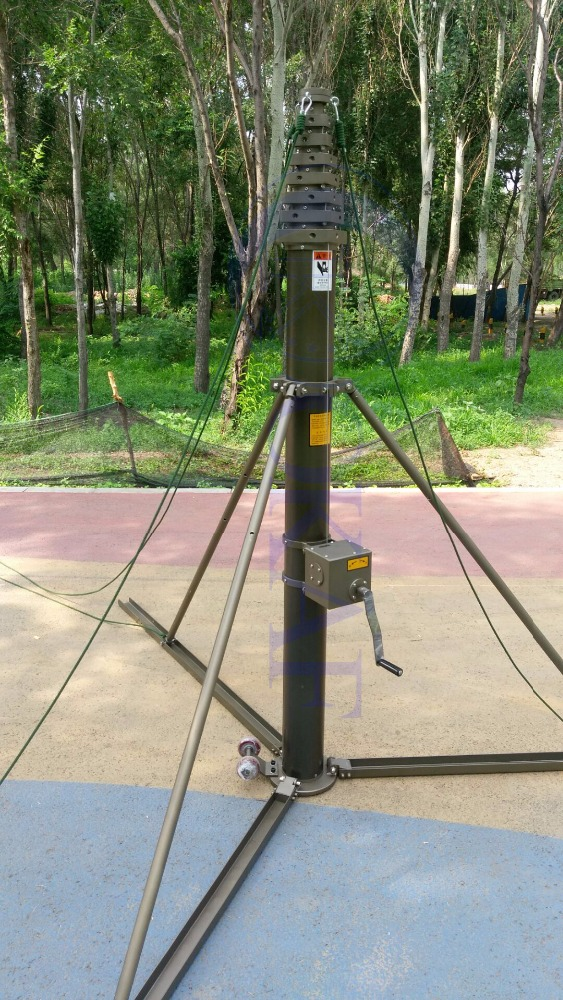 Surveillance cctv camera mast pole tower vehicle mounted telescopic mast
