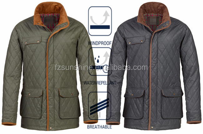 d356a54e2d445 2016 Men's Water Resistant Quilted Shooting Jacket, View Quilted ...