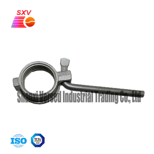 The formwork parts 60mm casting iron prop nut with steel hook