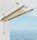 Balcony semi-automatic ceiling clothes drying rack/lifting aluminum clothes racks