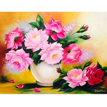 Beautiful Flowers Vase Wall Hanging Picture Fine Art Painting Buy