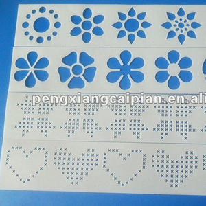 Laser cutting stencil/plastic template for painting
