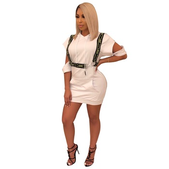 Womens Sexy Bodycon Dresses Short Sleeve Zipper Striped Club Party Mini Dress