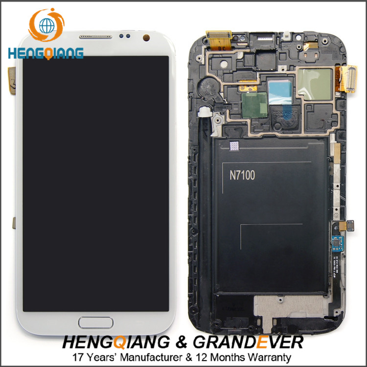 Hot sell Original lcd and digitizer assembly for samsung galaxy note 2 n7100 lcd touch