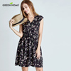 Green Home Floral fashion Maternity Nursing Dress Four Colors Pregnancy Short Dress For Pregnant Women