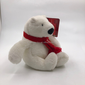 cola audited plush toychristmas decoration polar bear