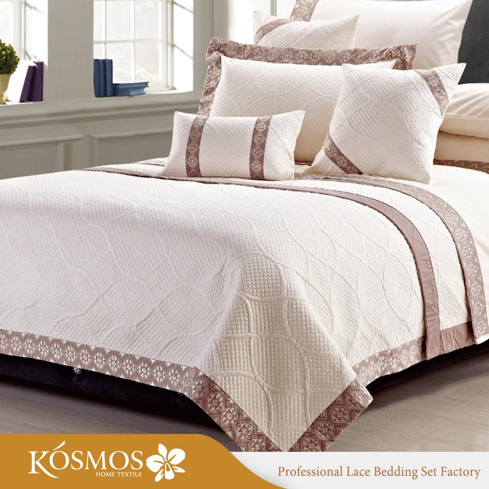 couvre lit dubai 10 Pcs Dubaï Roi De Mariage Couvre lit Brodé De Luxe Polyester  couvre lit dubai