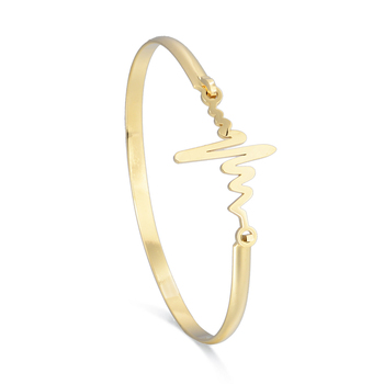 Personality Heartbeat Bracelet Lightning Curve Adjule Bangle
