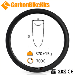 Customized cheap CR50T 23mm wide 50mm deep v shape 700c road carbon rims bike tubular