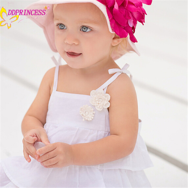 e0b35a6e3055 cute baby girl clothing white and yellow summer 100% cotton dress designer  cotton dresses for