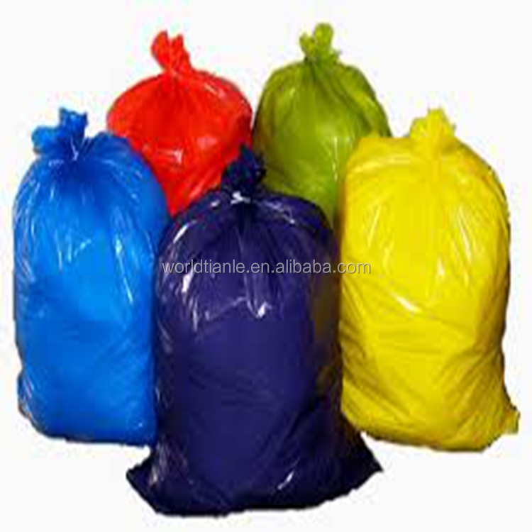 Colorful HDPE Material Customized Plastic Dist Bin Liner