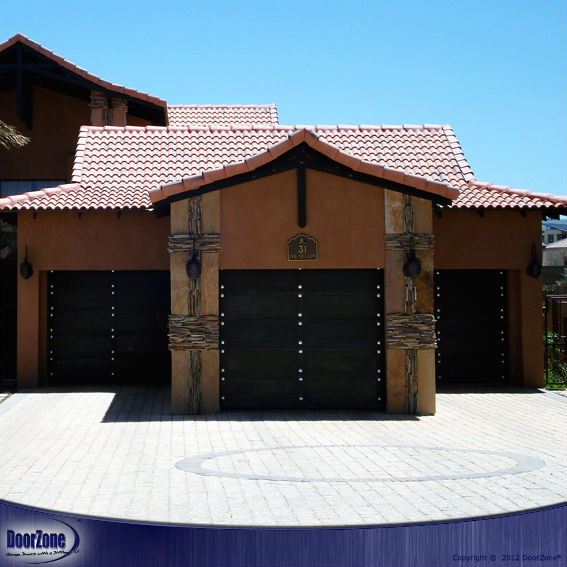 Studded Style Timber Garage Doors