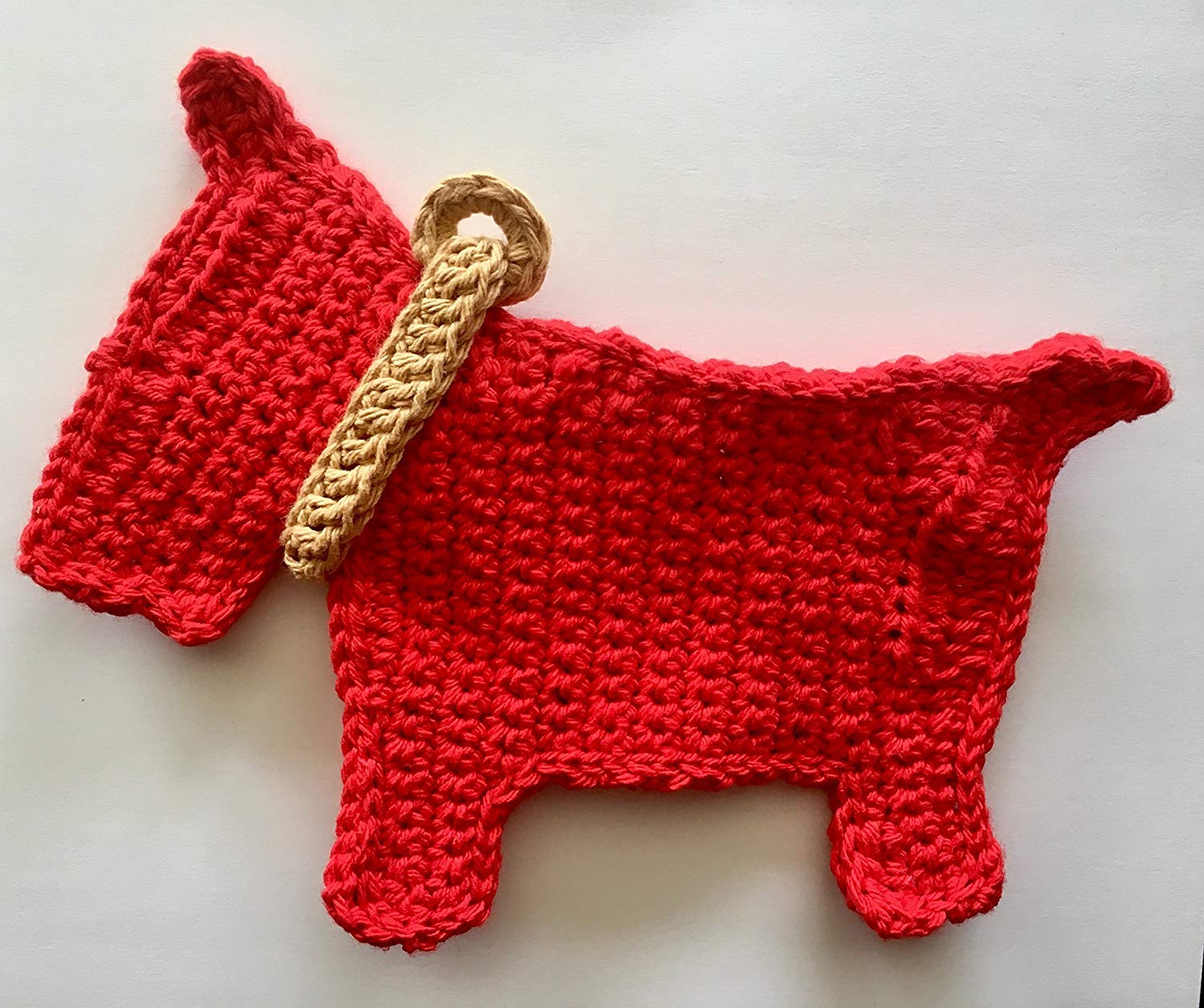 Get Quotations · Red Scottie Dog cotton dish cloth, Red dog dish cloth, cotton dish cloth,