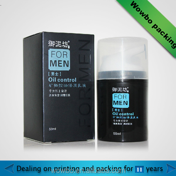 fashion product packaging box cosmetic box for men