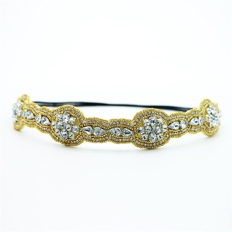 Factory wholesale classic design hot sale in USA handmade Rhinestone crystal headband hair accessories