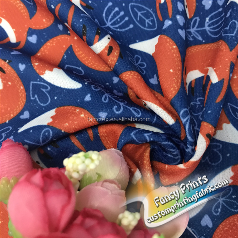 Cpsia Certified Customized Digital Printed Pul Fabric View