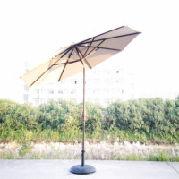 2019 auto tilt garden umbrella patio aluminum advertising outdoor umbrella