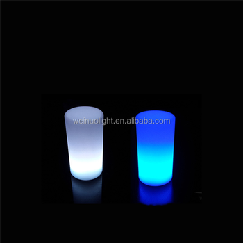 Colors Changing Rechargeable Battery Operated Led Table Lights Cylinder Decorative Lamp