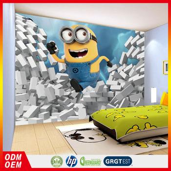 Cute Minions 3d Murales Para Los Niños Fondos De Pantalla Buy Cute