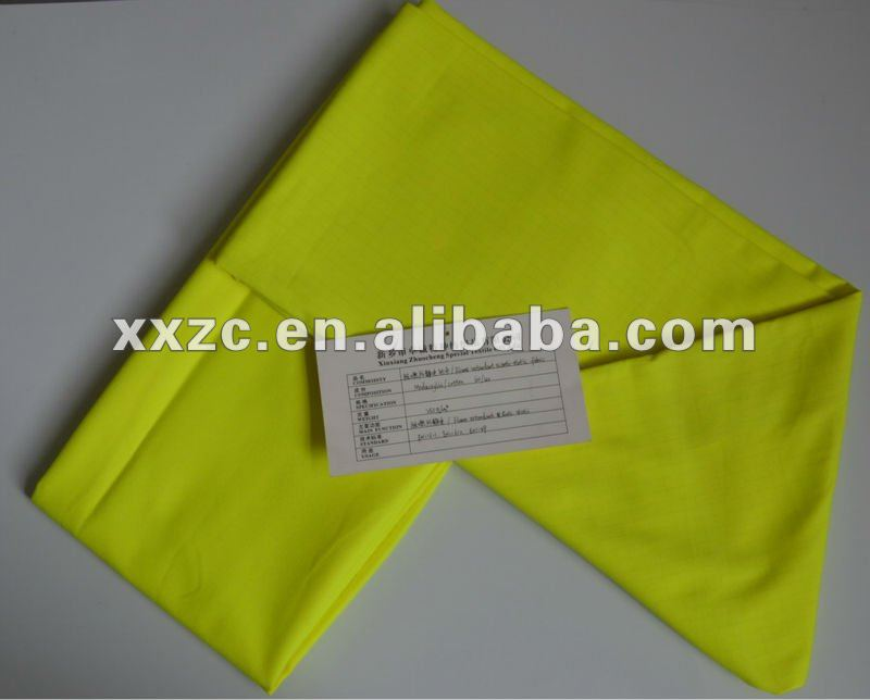 High Quality modacrylic cotton fire resistant anti static fluorescent fabric