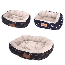 Pet Supplies Small Large Foldable Round Dog Bed