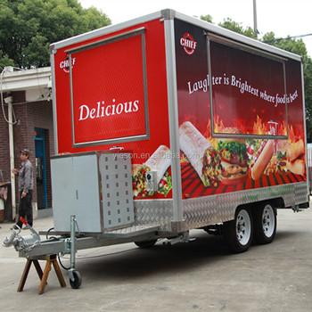 Mobile Food Truck Kebab Cart Hot Dog