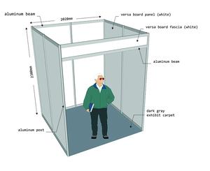 �ล�าร���หารู�ภา�สำหรั� exhibition booth 2x2