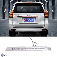 ABS Chrome Rear Trunk Lid Moulding With LED For Prado 2018