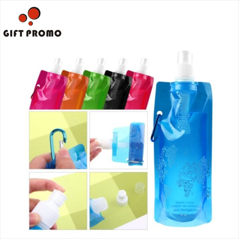 Plastic Custom Collapsible Water Bottle