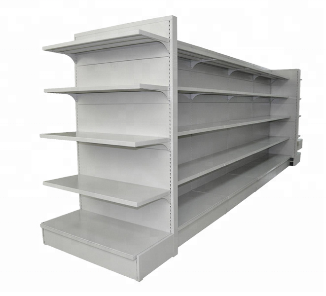 single side shelf supermarket shelving store metal racks gondolas for display